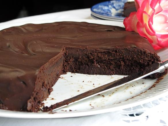 Torta de chocolate para celiacos