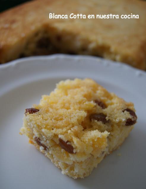 Torta para celiacos con harina de maiz