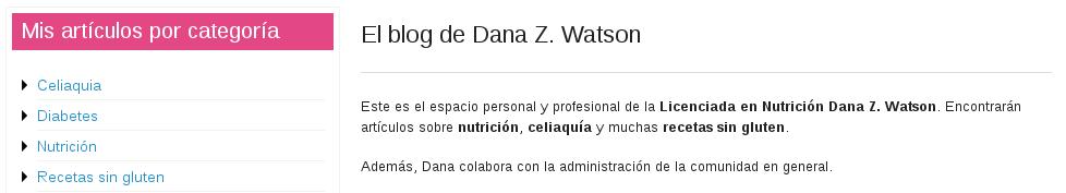 Espacio de Dana Z. Watson