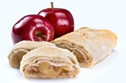 arrollado de manzanas