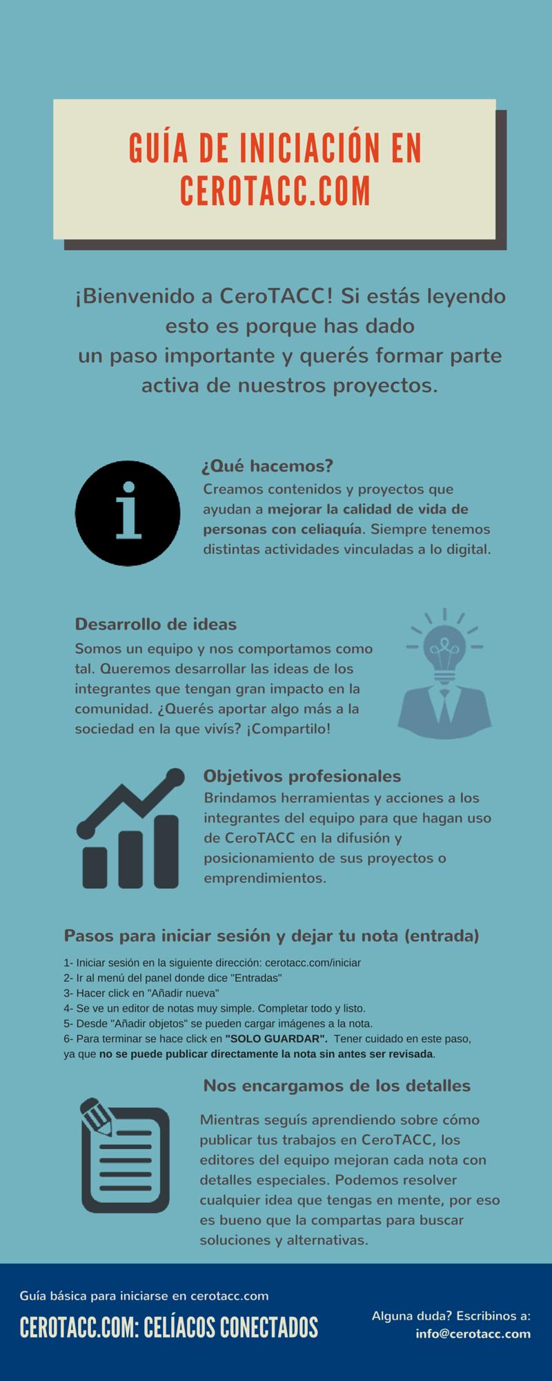Infografía, trabajar en cerotacc